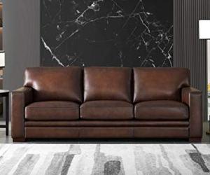 Hydeline Dillon 100% Leather Sofa Set (Sofa, Brown)