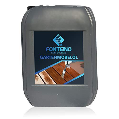 Olio per mobili in legno teak Cura giardino arredi Ravviva protegge sedie porte gazebo casette - 5L