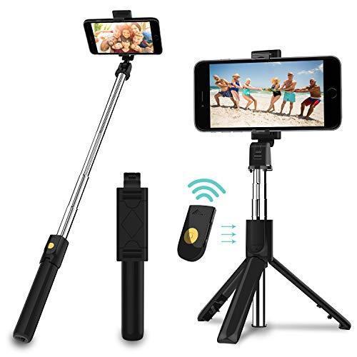 SYOSIN Perche Selfie Trépied Extensible avec Télécommande, 3 en 1...