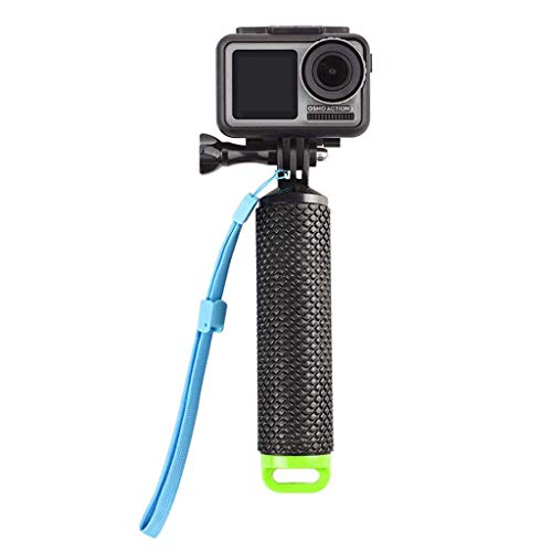 Galleggiante,Impugnatura Bastone Galleggiante Action Cam Handle Mount Grip per Hero 5/3 4 Session 3 Panasonic Lumix Nikon con Regolabile Cinturino Vite 78cm Nero