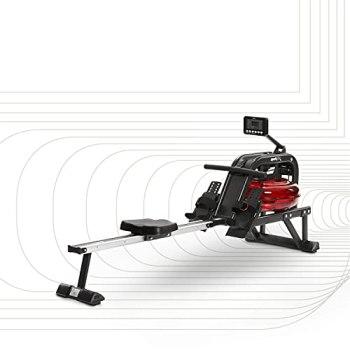 SportPlus rameur à eau • 6 niveaux de résistance • sensation réaliste de l'aviron • ordinateur d'entraînement • haute qualité • pour la maison • sécurité testée TÜV jusqu'à 130 kg • SP-MR-011