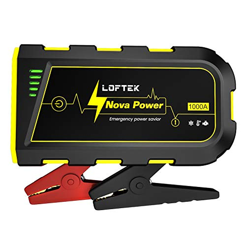 LOFTEK Portable Car Battery Jump Starter (Up to 7.0L Gas or 5.5L Diesel Engine), 12V Power Pack Auto...