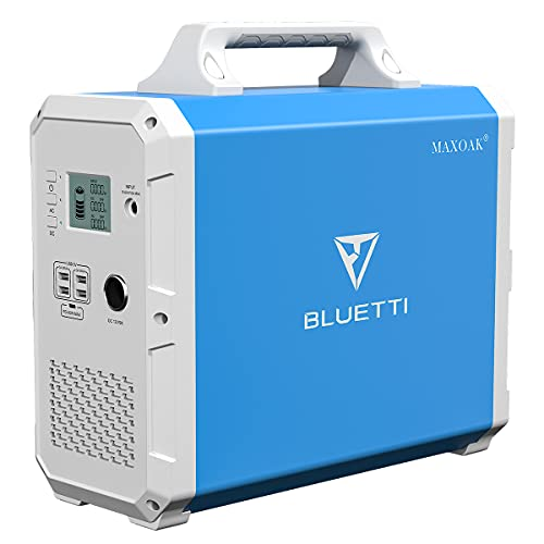 MAXOAK Portable Power Station BLUETTI EB150 1500Wh AC110V/1000W...