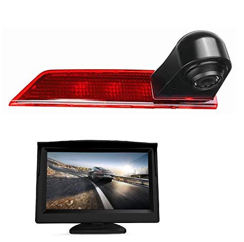 HD 700TV LINE 3a luce di freno, fotocamera di ricambio per telecamera di retromarcia, telecamera posteriore di backup+display monitor da 5 pollici per Transporter Ford Transit Custom V362 2012-2019