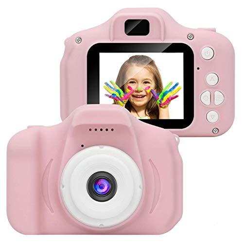 Fotocamera per bambini,Telecamera Digitale per Bambini 1080P HD Video Fotocamera Digitale con Schermo LCD da 2 Pollici Scheda di Memoria 32G (FS-4)