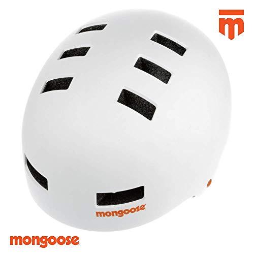 Mongoose BMX Helmet White Helm, weiß, 60-62cm