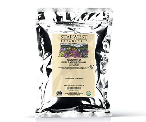 Starwest Botanicals Organic Malabar Black Whole, Pepper, 16 Ounce