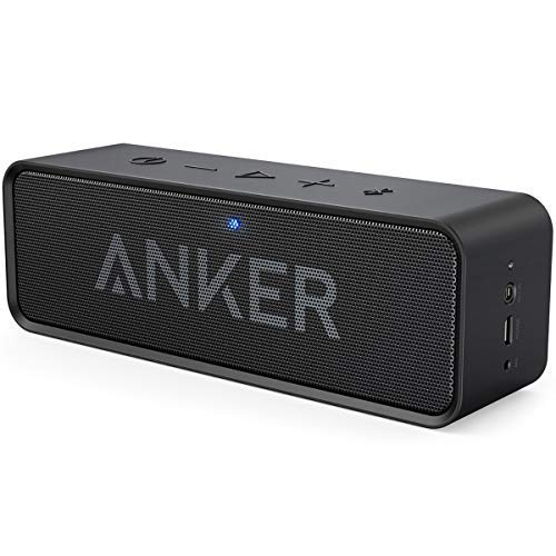 Anker SoundCore Bluetooth Lautsprecher, Tragbarer Lautsprecher mit unglaublicher 24 Stunden Akkulaufzeit und 6W Dual-Treiber, reinem Bass und eingebautem Mikrofon für iPhone, Samsung usw. (Schwarz)