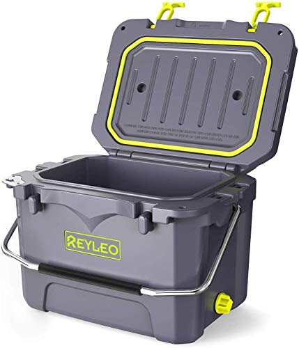 REYLEO Cooler, Rotomolded Cooler 21-Quart, 30-Can, 3-Day Ice...