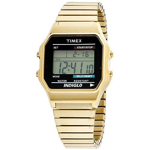 Timex Herren-Armbanduhr Digital Quarz Edelstahl T78677PF