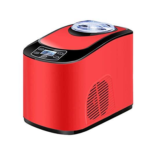 OMKMNOE Professionelle Eismaschine,Elektrisch 1,5 L Kühlfunktion Schnelle Zubereitung Für Frozen Yoghurt Sorbet Eiscreme,Rot