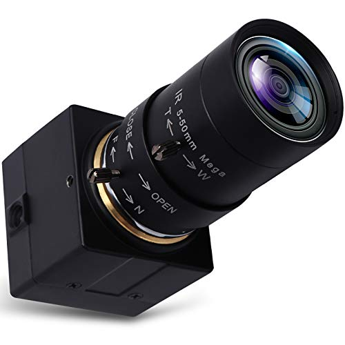 Svpro Telecamera Web USB 5-50mm Zoom manuale Varifocal 2MP MJPEG CS Mount Webcam USB 120fps a 640 × 480,60fps a 1280 × 720,30fps a 1920 × 1080 Mini CMOS USB Telecamera HD 1080P(USBFHD01M-SFV)