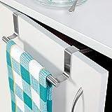 RISSACHI Stainless Steel Towel Bar Holder Cabinet Hanger Over Door Kitchen Hook Drawer Storage.