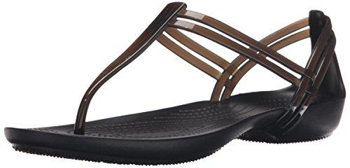Crocs Isabella T Strap, Sandalias para Mujer, Negro (Black), 34/35 EU