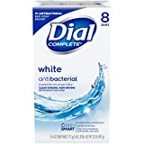 Dial Antibacterial Deodorant Soap, White, 4 Ounce (Pack of 8) Bars (Health and Beauty)
