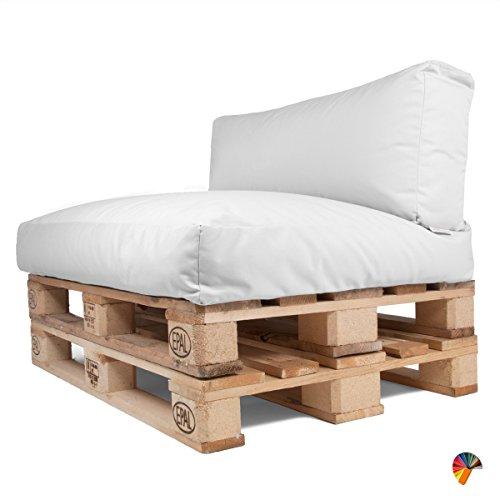 Arketicom Soft Set Cuscini Pallet BANCALI Morbidi da Esterno per arredo mobili divani da Giardino...