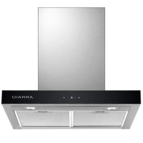 CIARRA CBCS6102 Cappa Aspirante Cucina 60cm Acciaio Inox, 550 m3/h Potenza di Aspirazione, 3 Livelli...