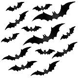 Chstarina 56 Piezas Halloween Pegatinas de Murciélagos 3D, Realista Pegatinas de Murciélagos de...
