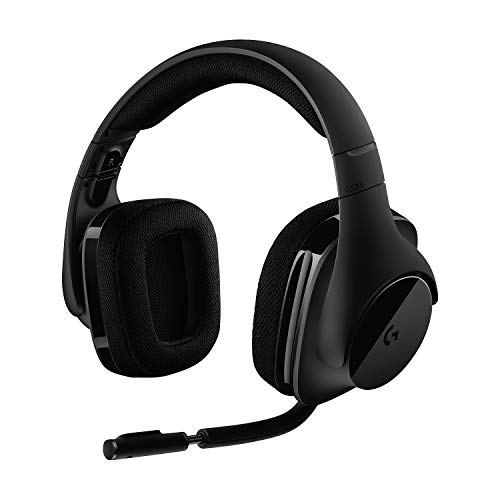 Logitech G533 Casque Gamer Sans Fil, Son Surround 7.1 DTS Headphone:X, Transducteurs Pro-G 40 mm, Micro Anti-Parasite, 2,4 GHz Wireless, Poids Ultra-Léger, Batterie 15h, PC/Mac