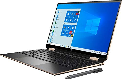 "HP Spectre x360 GEM Cut 13.3"" FHD Touch Laptop, Intel i7-1065G7, 16GB RAM, 512GB SSD, Bang & Olufsen, Fingerprint Reader, HP Stylus, Nightfall Black, Win 10 Home, 64GB TechWarehouse Flash Drive"