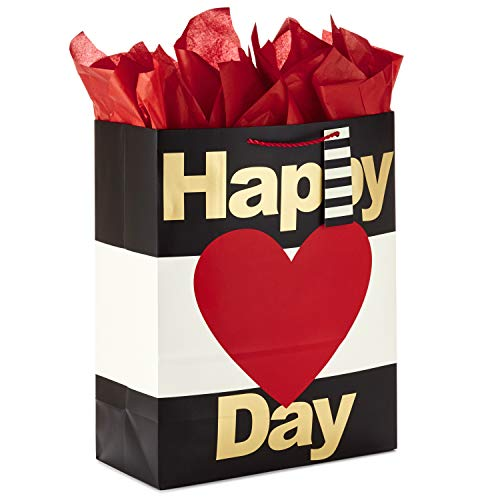 Hallmark 15' Extra Large Valentine's Day Gift Bag with Tissue Paper (Happy Heart Day)