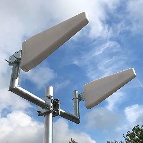 woogmedia Externe Hochleistungs LTE Antenne (800MHz, 1800, 2600) 27dBi - inklusive 10Meter Twin-Antennenkabel SMA für z.B. Huawei B593/B390, Speedport LTE II, Speedport Hybrid etc.