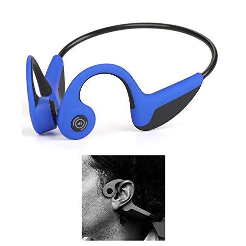 Z8 Bluetooth 5.0 Conduzkeyiione ossea Auricolare Bluetooth Cuffia senza fili Sport Stereo Sweatproof con microfono per sport come corsa Guida in bicicletta fitness compatibile con iOS Android (blu)