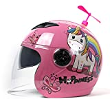 Motorcycle Helmet for Kid,Lovely Fashion Motorbike Half Helmets,Electric Bicycle Four Seasons Moped Helmet Boys Girls Childs 44To50cm,Pink