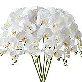 FagusHome 6 Pièces Fleur Artificiel Phalaenopsis Orchidée 80cm Artificielle...