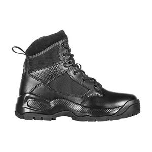 5.11 Women's ATAC 2.0 6″ Tactical Side Zip Military Combat Boot, Style 12404, Black