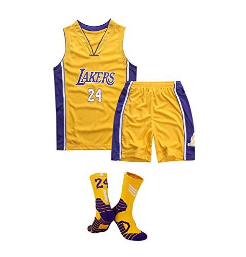 Maglia da basket per bambini, maglia da basket Kobe Bryant dei Los Angeles Lakers n. 24, maglia a...