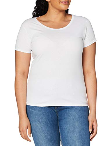 Fruit of the Loom Valueweight Short Sleeve T-Shirt, Bianco, M Donna