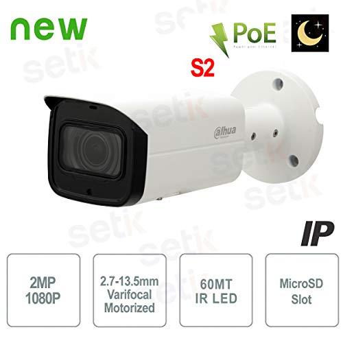 Dahua - Telecamera Dahua IP 2MP Motorizzata IR60 H.265+ WDR PoE+ - IPC-HFW2231T-ZS