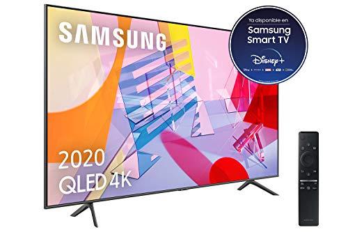 """Samsung QLED 4K 2020 55Q60T - Smart TV de 55"""" con Resolución 4K UHD, con Alexa Integrada, Inteligencia Artificial 4K Wide Viewing Angle, Sonido Inteligente, One Remote Control"""