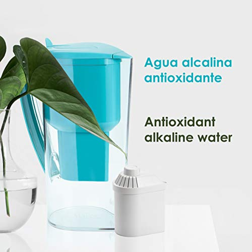 Product Image 2: Alkanatur Alkaline Water Filter Pitcher removes Fluorides, Chlorine, Sodium, impurities, etc, Alkaline, Ionized, Hydrogenated Water, high pH of 9.5, adds Magnesium - Most Certified Pitcher BPA Free