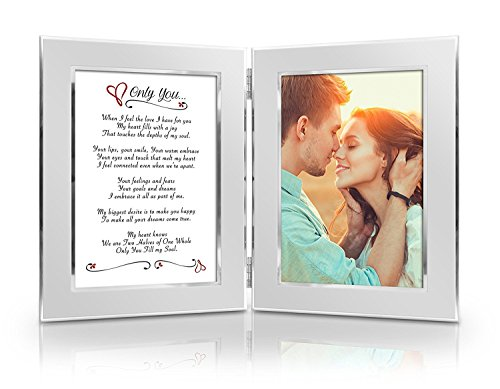 BEST Romantic Valentine Anniversary Birthday Wedding Gift for Her, Him, Wife, Husband, Girlfriend, Boyfriend, Soulmate, Lover. Date Night Gift. Romantic Poem + Your Favorite Photo = Custom Poetry Gift