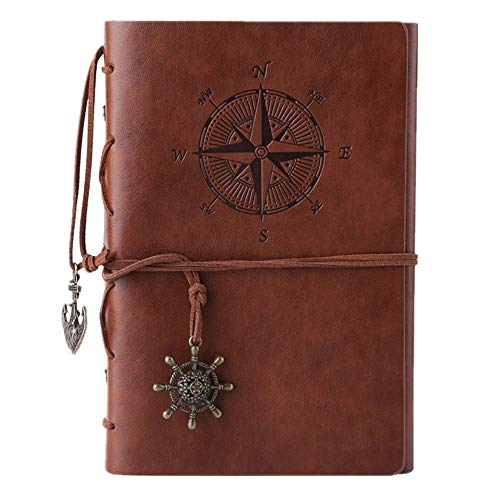 Journal en cuir ordinateur portable, carnet à spirales rechargeable...