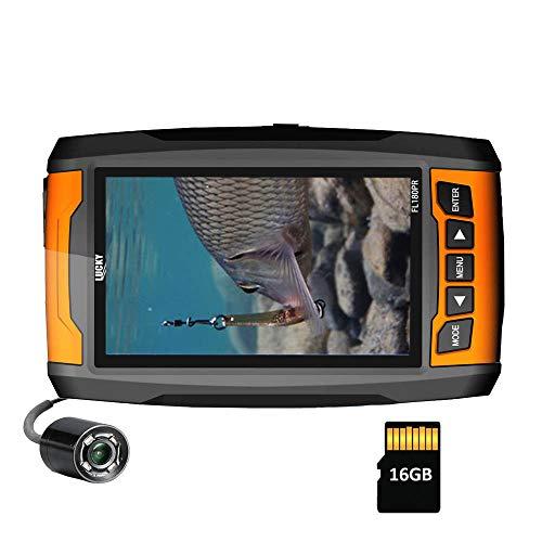 LUCKY Fotocamera per la pesca subacquea Fishfinder portatile ad alta risoluzione Fotocamera con luci a infrarossi Fotocamera subacquea per pesca sul ghiaccio Pesca in mare Pesca in barca