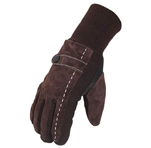 FabSeasons Unisex Woolen Winter Gloves with Touchscreen Fingers (Brown, Free Size)