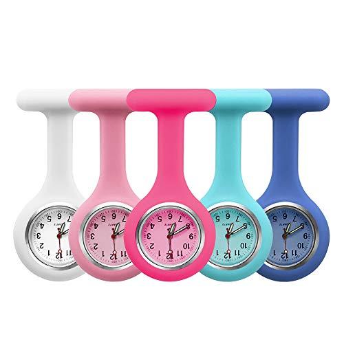 5pcs Silicone Nurses Watch (Practical Colour)