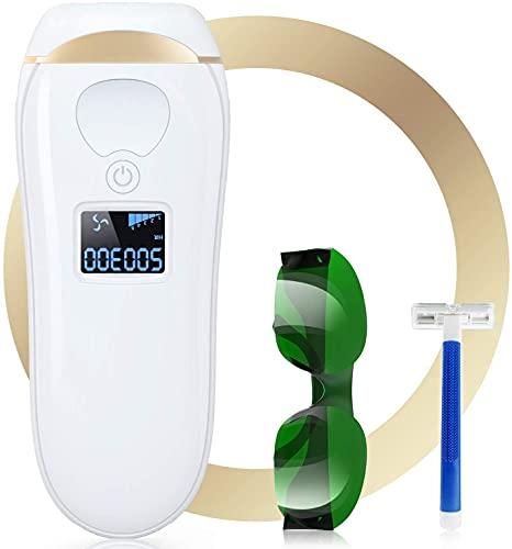 Epilatore Luce Pulsata IPL Epilatore Laser con 5 Livelli di Energia, 2 Modalit e 990.000 Flash Depilazione Permanente Indolore per donna Uomo