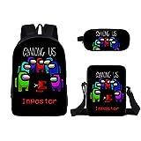 spier Mochila de juegos para niños, con mochila + bolsa cruzada + bolsa para lápices para estudiantes, jóvenes adolescentes