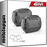 givi portamaletas lateral + maletas lateral trekker ii 35 trk35b black line compatible con honda vfr 800 vtec 2002 02 2003 03