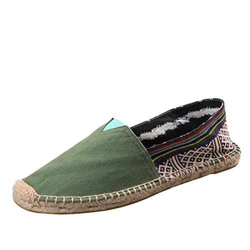 Dooxii Unisex Hombre Mujer Amantes Ocasionales Loafer Zapatos Moda Planos Alpargatas 38(24cm)