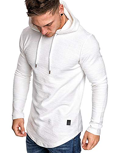 lexiart Mens Fashion Athletic Hoodies Sport Sweatshirt Solid...