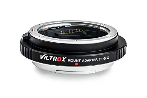 VILTROX マウントアダプター EF-GFX レンズマウント変換アダプター AFオートフォーカス 自動絞り 手振れ補正対応 Canon EF/EF-Sマウントレンズ→Fuji GFX中判ミラーレスデジタルカメラに装着用 GFX 50S/50R対応