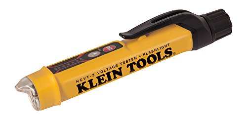 Klein Tools NCVT-3 Voltage Tester, Non-Contact Dual Range Voltage Tester Pen for AC and DC Testing, with Integrated Flashlight