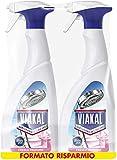 Viakal Anticalcare Detersivo Spray per Bagno, 2 bottiglie da 700 ml,...