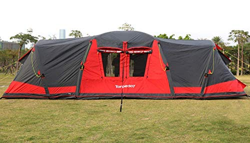 zdw Outdoor Equipment Group Tunnel Aufblasbares Zelt mit Sonnendach 5000 Mm Wassersäule Festival Camping Backpacking Wasserdichtes Outdoor-Kuppelzelt 8-18 Personen Winddichter Schneeschutz