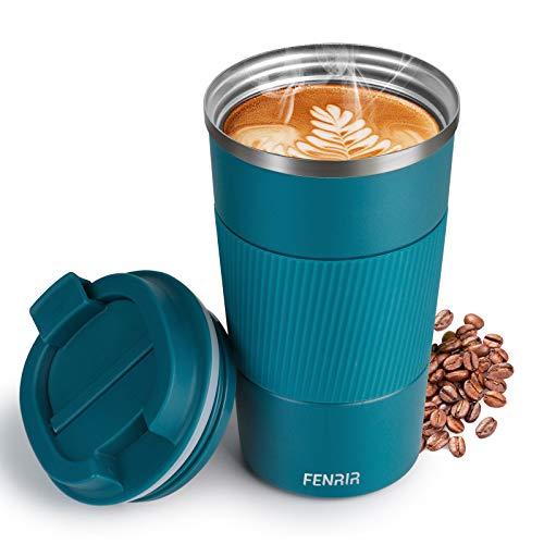 Travel Mug - Mug de Voyage Isotherme en Inox, Fiole à vide,Tasse à...